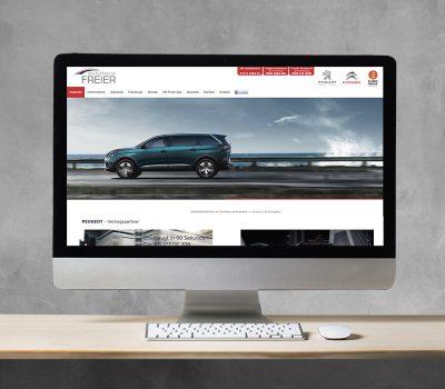 Referenz Autohaus Freier Heilbronn Website