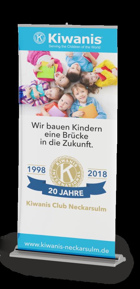 Kiwanis Neckarsulm 20 Jahre Jubiläums-Rollup