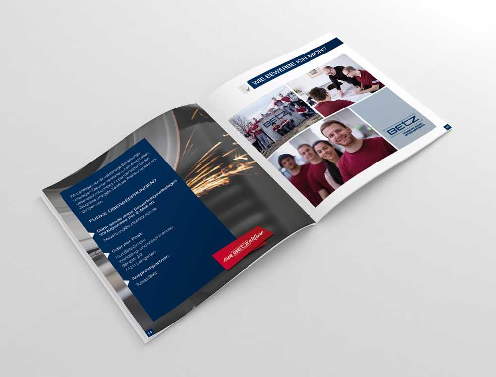 Broschüre Betz GmbH Doppelseite